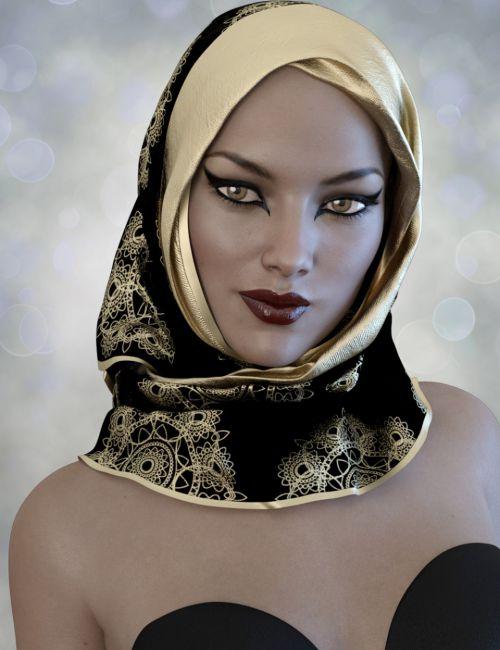 X-Fashion Hijab for Genesis 3 Female(s)