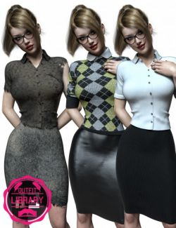 i13 Librarian Outfit for the Genesis 3 Female(s)