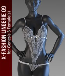 X-Fashion Lingerie 9 for Genesis 3 Females