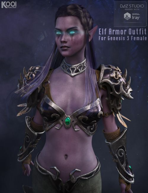 Elf Armor Outfit for Genesis 3 Female(s)