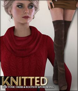 Knitted for Tunic Dress and Boots