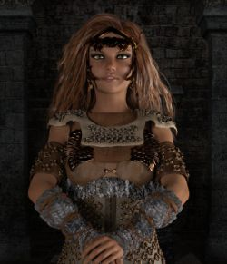 Fantasy Bronze Armor for Genesis 3 Female