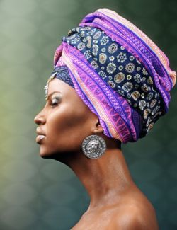 African Headwear for Genesis 3 Female(s)