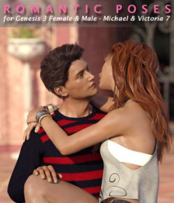 Romantic Poses for Genesis 3 Female & Male- Michael & Victoria 7