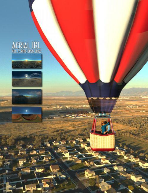 Aerial IBL Wide Open Skies HDRI