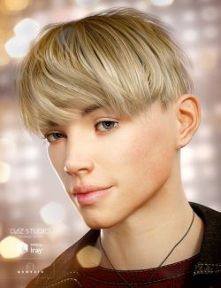 Bowl Cut Hair for Genesis 3 Male(s)