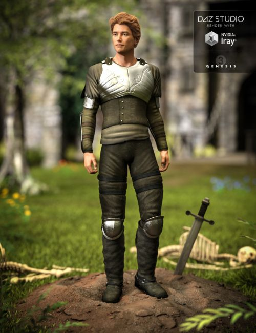 Light Foot Soldier Outfit for Genesis 3 Male(s)