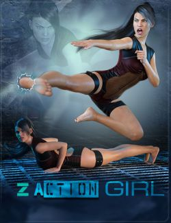 Z Action Girl - Poses for Genesis 3 Female