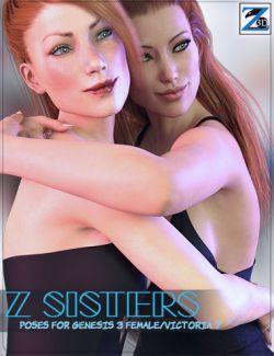 Z Sisters - Poses for Genesis 3 Female and Victoria 7