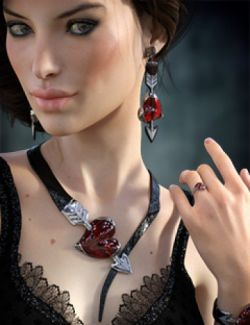 Heartstruck Jewelry for Genesis 3 Female(s)