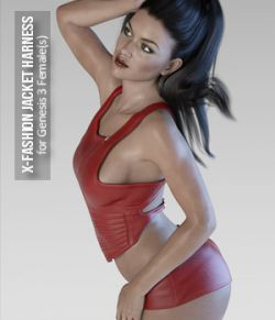 X-Fashion Jacket Harness for Genesis 3 Females