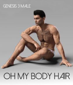 Oh My Body Hair for Genesis 3 Male