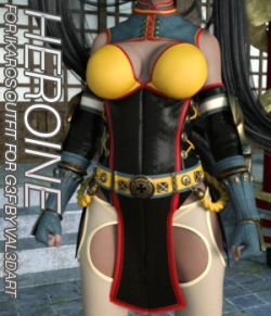 HEROINE - Ikaros Outfit for Genesis 3 Female(s)