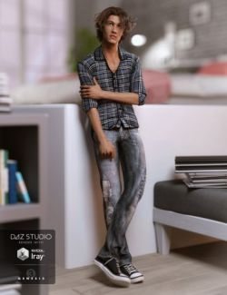 Jeans and Button Up Outfit for Genesis 3 Male(s)