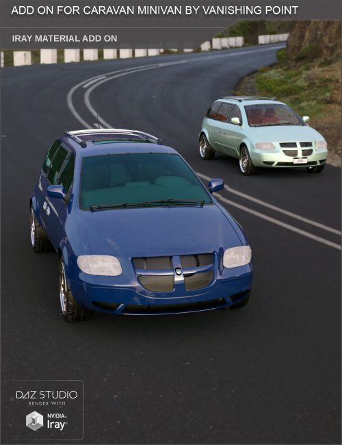 Add On for Caravan Minivan by VanishingPoint (Daz Studio)