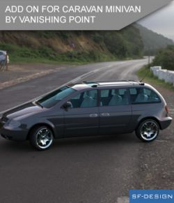 Add On for Caravan Minivan by VanishingPoint (Daz Studio)