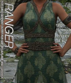 RANGER- Sand Serpent Outfit for Genesis 3 Female(s)