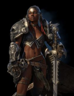 Kadis- Ancient Legendary Armor, Weapons and Poses for Genesis 3 Female(s)