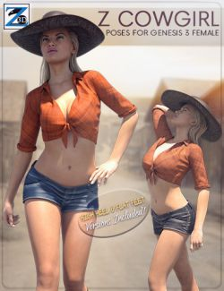 Z Cowgirl - Poses for Genesis 3 Female