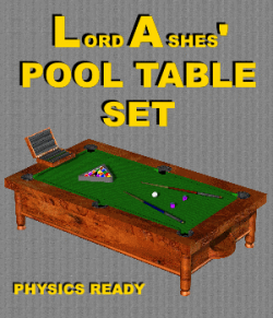 LA FBX Pool Table Set  - Extended License
