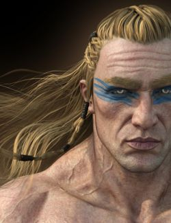 Dragonsbane Barbarian Character HD for Genesis 3 Male
