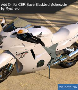 Add On Iray Extension for CBR-SuperBlackbird Motorcycle by Mysthero