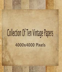 Set of 10 Vintage Papers