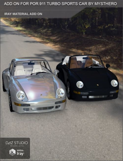 Add On Iray Extension for POR.911 Turbo Sports Car by Mysthero (Daz Studio)