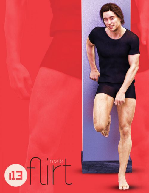 i13 Flirt Male Pose Collection for Genesis 3 Male(s)