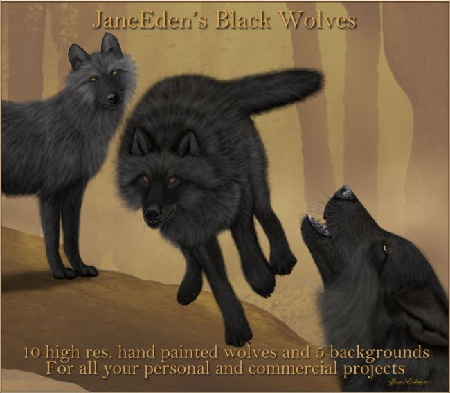 JaneEden's Black Wolves