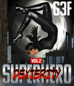 SuperHero Dexterity for G3F Volume 2