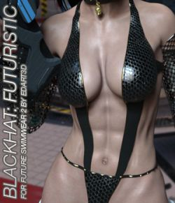 BLACKHAT:FUTURISTIC- Future Swimwear 2 for G3F
