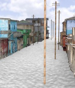 Shanty Town Buildings 2: Town Blocks (for DAZ Studio)