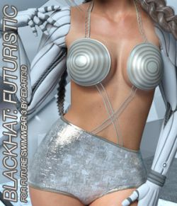BLACKHAT:FUTURISTIC- Future Swimwear 3 for G3F