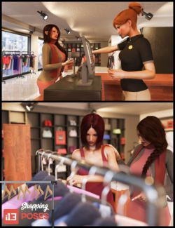 i13 Shopping Poses for the Genesis 3 Female(s)