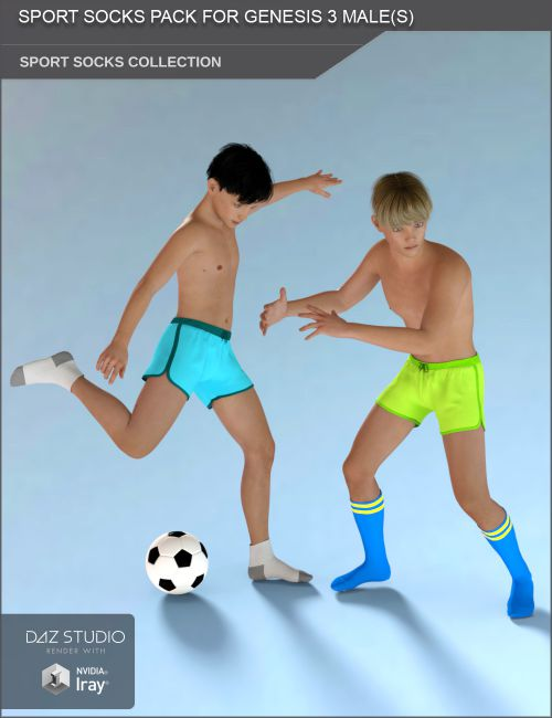 Sport Socks Pack for Genesis 3 Males