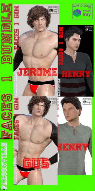 Faces 1 Bundle for Genesis, M5, Heroic M5, G2M, M6, G3M and M7
