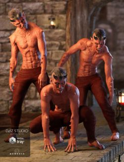 Night Creatures Poses and Expressions Set for Genesis 3 Male(s)