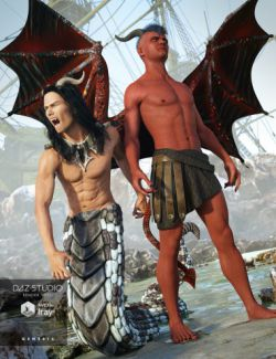 Dark Fantasy Add-Ons for Genesis 3 Male(s)