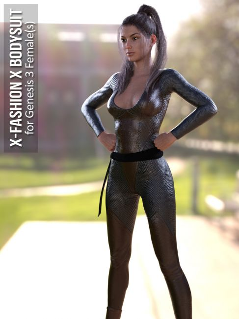 X-Fashion X Bodysuit for Genesis 3 Females