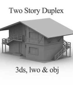 M9 Two Story Duplex OBJ, 3DS, LWO - Extended License