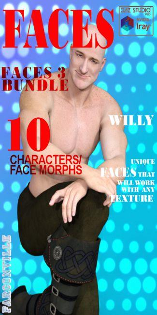 Faces 3 Bundle for Genesis, M5, G2M, M6, G3M and M7