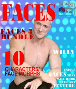 Faces 3 Bundle for Genesis, M5, G2M, M6, G3M and M7