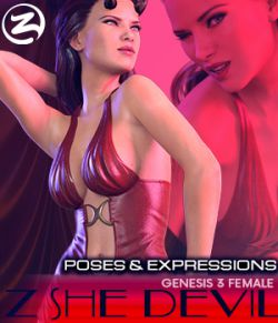 Z She Devil- Poses and Expressions for Genesis 3 Female / Victoria 7