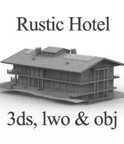 M13 Rustic Hotel OBJ, LWO & 3DS- Extended License