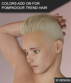 Color Add On for Pompadour Trend Hair for Genesis 3 Male(s)