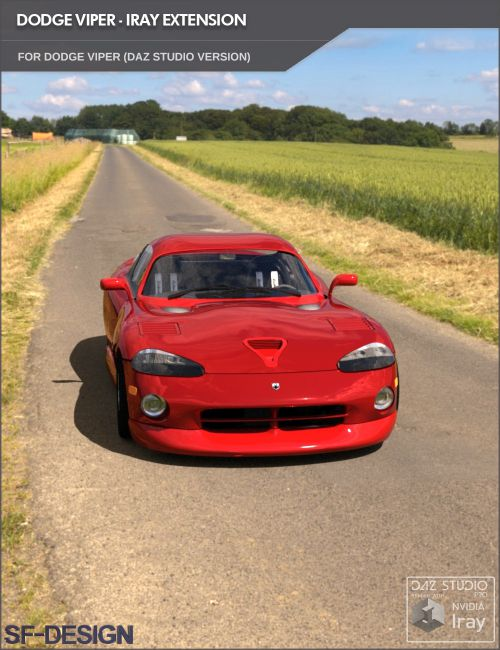 Add On for Dodge Viper by Vanishing Point (Iray Extension)