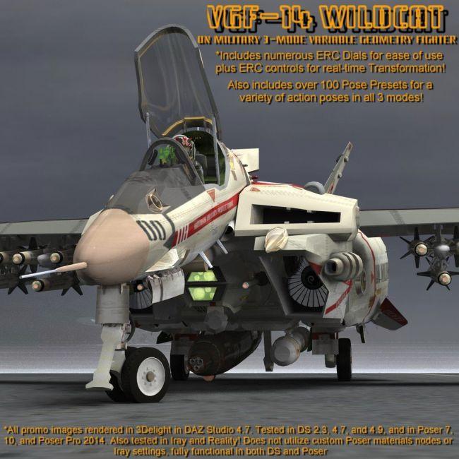 VGF-14 D Wildcat (for Poser)