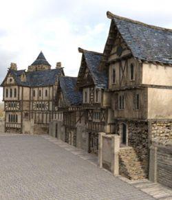 Medieval Street obj format- Extended License