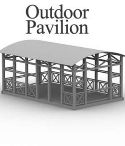 M4 Outdoor Pavilion obj, 3ds & lwo- Extended License